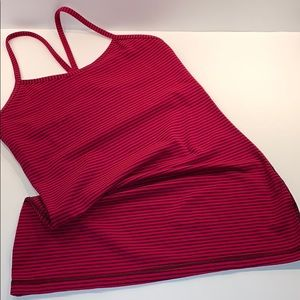 LULULEMON striped tank size 6 w/ built in support